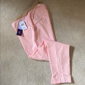Maternity ankle pants. Pink